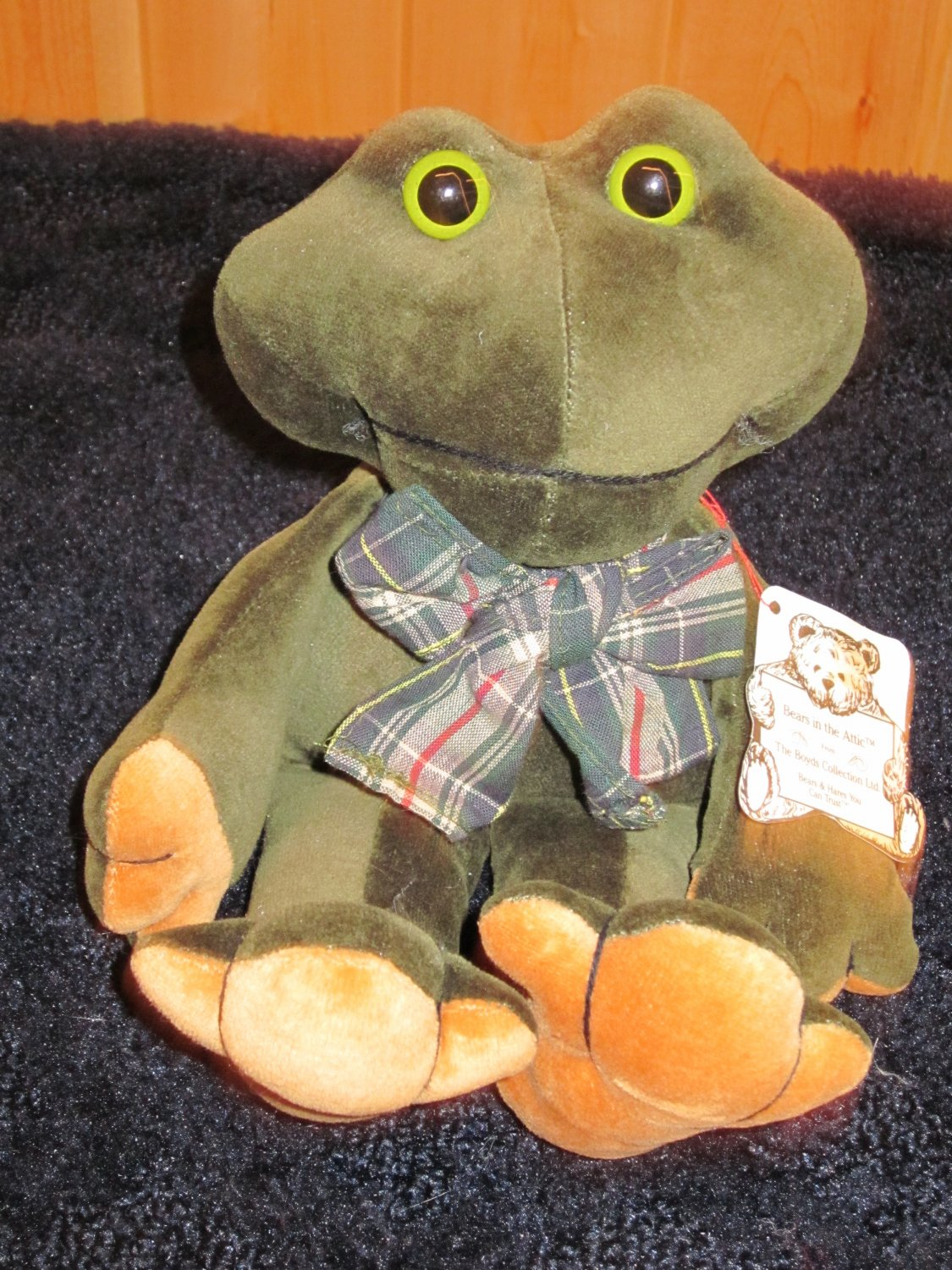 Bears in the Attic The Boyds Collection Plush Green Frog