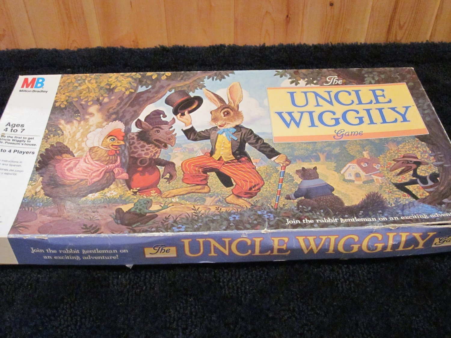Vintage Uncle Wiggily Board Game by Milton Bradley