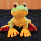 Ganz Webkinz Tree Frog Green Yellow Red No Code