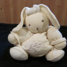 1998 Kaloo Lilirose Balloon Style Bunny Rabbit Pale Yellow and Cream