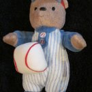 Carters Tan Teddy Bear in baseball suit Hanging Shaking toy