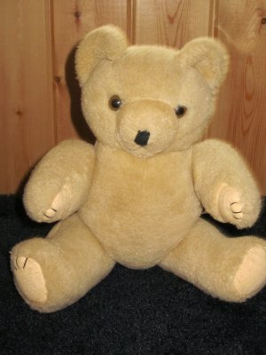 Vintage Tan Teddy Bear Jointed made for Midwest Importers of Cannon Falls Mn