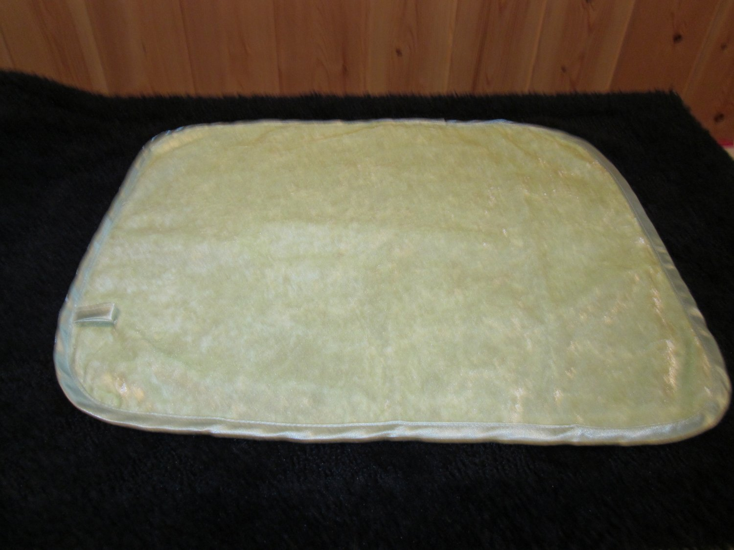 Soothys Crushed Velvet Light Green Baby Security Blanket Lovey