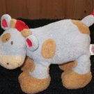 Baby Gund Blue Cow Rattle Tan Spots Woodles Little Tippy 58549