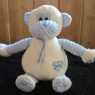 Chinda Plush White and Blue Monkey With Heart and Baby