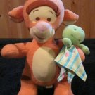 Fisher Price Disney's Winnie the Pooh Tigger the tiger Plush with Frog Lovey Security Blanket