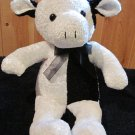 Kuddle Me Toys Plush Black and White Cow