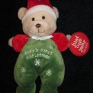 Just One Year Carters Plush Teddy Bear Doll Baby's First Christmas