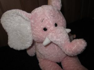 Baby Ganz Plush Pink Elephant from 1999