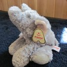 "Aurora 7"" Plush Grey Elephant named Ellie New with tags"