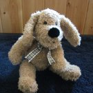 Chosun International Plush Puppy Dog with black and white ribbon