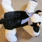 Mary Meyer Flip Flops Plush Black and White Cow
