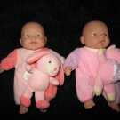 Two Berenguer Dolls Pink Baby New Born  JC Toys
