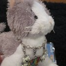 Ganz Webkins Grey and White Cat with Webkinz Bracelet and three Charms