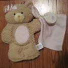 Baby Gund Bear Tales Collection 2 Piece Bath Set Teddy Bear Wash Mitt & Wash Cloth