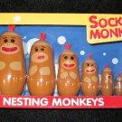 Schylling Nesting Sock Monkeys Six Piece set Monkey