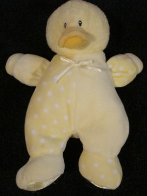 Baby Gund Plush Yellow Duck Dottie Dots #58241