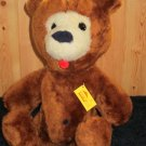 "Vintage 1976 Animal Fair Plush 15"" Brown Bear Sunny or Barney?"