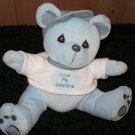Precious Moments 2000 Blue plush Bear I love my grandma