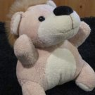 "Plush Safari Lion 6"" tan with hairy mane"