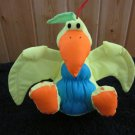 Stuffins Yellow Blue and orange plush Bird with squeaker