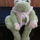 Broquet enterprises Plush Frog green with yellow vest