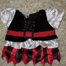 Girls Pirate 2 PC Outfit for a plush Toy 12-15 inches.