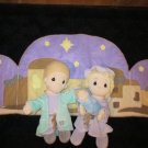 1999 Precious Moments Plush Tender Tails Nativity Mary Joseph Baby Jesus
