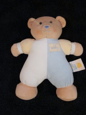 Baby Ganz plush Rattle toy Bear With 'baby' on it