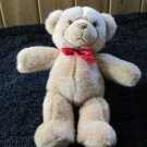 Gund Tan Teddy Bear with Red Satin Ribbon Plush toy