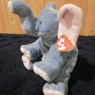 Ty Pluffies Grey and Pink Elephant named Winks Plush Lovey