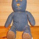 Baby Gap Denim Teddy Bear Brown Stitching