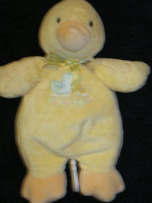 Baby Carters Yellow Duck Musical Crib Toy with Duckie Kisses