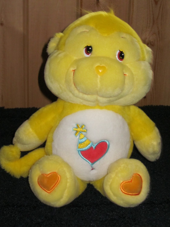 """Care Bears Cousins Playful Heart Monkey 13"""" Plush Yellow"""