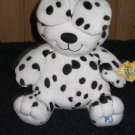 Kids II Black and White Dog named PJ Says, Peek A Boo Plush