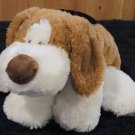 Mary Meyer Plush Puppy Dog Tan, white and black Floppy pillow