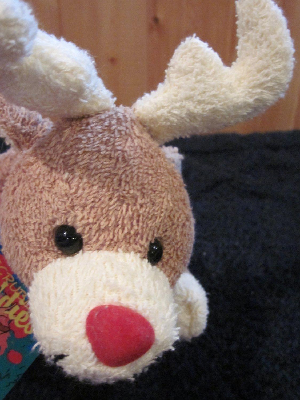 Bath & Body Works Scrubby Buddies Buck  Red nosed Reindeer