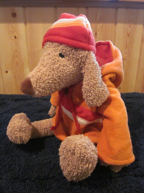 Bath & Body Works Tan Puppy Dog  Barker jacket Hood