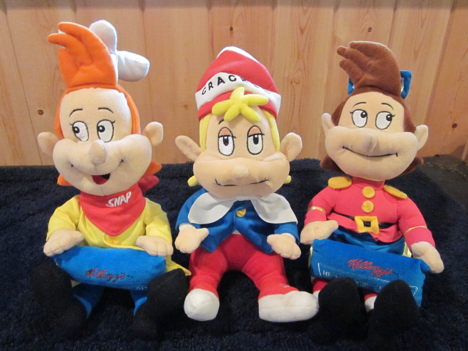 Kellogg's Rice Krispies Snap Crackle Pop Plush Dolls from 1999