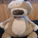 Jellycat large Plush puppy Dog Brown Tan Patches
