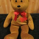 Kibbybears RibbonPets RibbonBears Brown Teddy Bear with red hearts and xoxo on foot