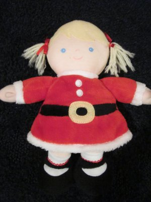 Just one year Carters Plush Blonde doll in red Santa Dress