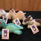 Manhattan Toy Co Plush Totterlings Lucinda Llama Drucus Dragon Cassius Camel Perceval Palomino