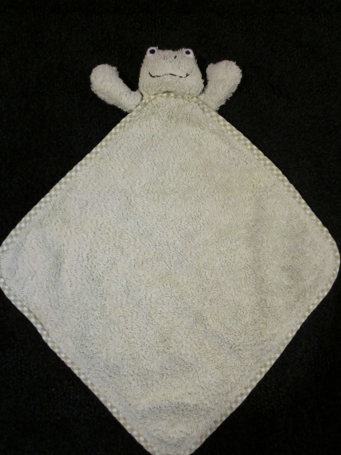 Pottery Barn Kids Terry Green Frog Security Blanket Lovey