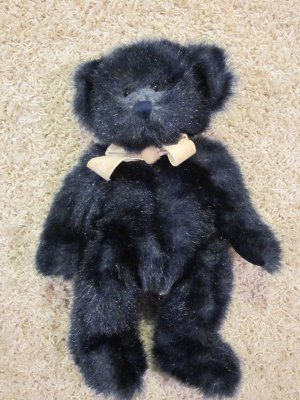 Russ Berrie Plush Navy Blue Bear Named Alleluia #4888