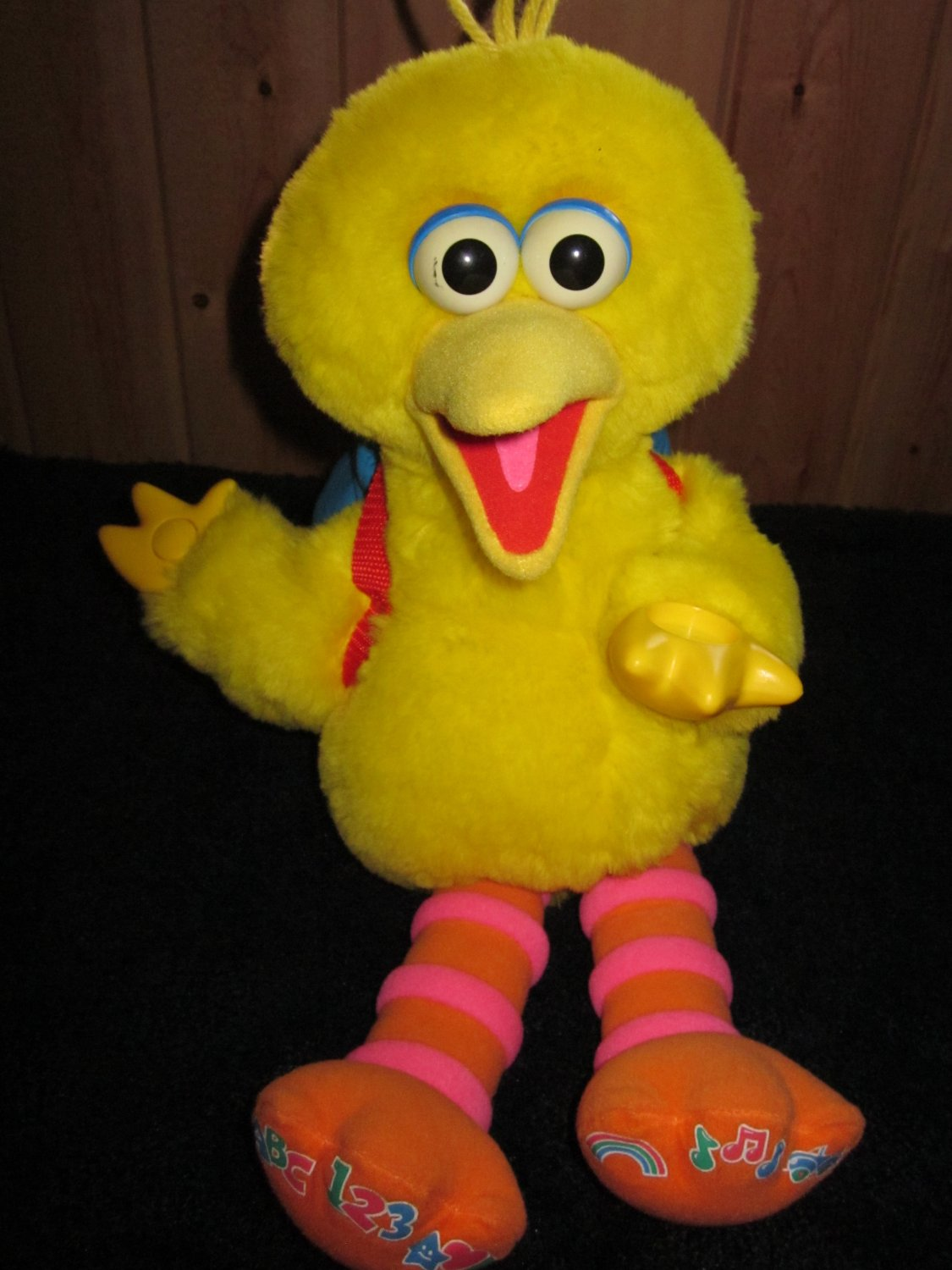 Fisher Price Play and Teach Big Bird Plush Toy ABC's Shapes Songs and more
