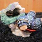 Mary's Moo Moos  372757 Having a Moo-velouse Time Cow/Disc Sled Mini Figurine