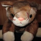 Ty Beanie Buddy Brown Ty-dye Plush Cat named Pounce with conversation hearts sweater