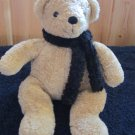 Pottery Barn Tan Bear with Black Scarf