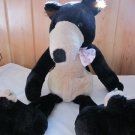 1994 Sugar Loaf Black Bear Tan Accents white polka dot bowtie.